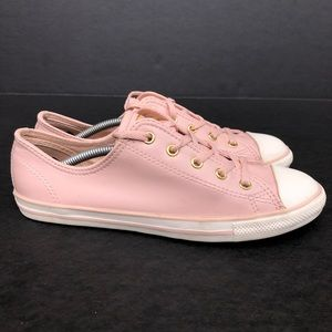Converse Chuck Taylor Pink Leather Shoes Size 8